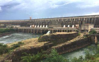 A barragem da Itaipu Binacional