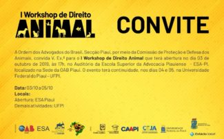 I Workshop de Direito Animal