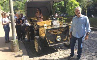 Petrópolis/RJ: testando a carruagem elétrica