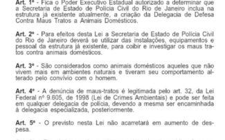Witzel sanciona lei que prevê criação de delegacia de combate aos maus-tratos contra animais no RJ